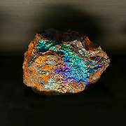 colourful mineral from Andalusia Mine, Spain. Photographed at the Natural History Museum, Vienna, Austria