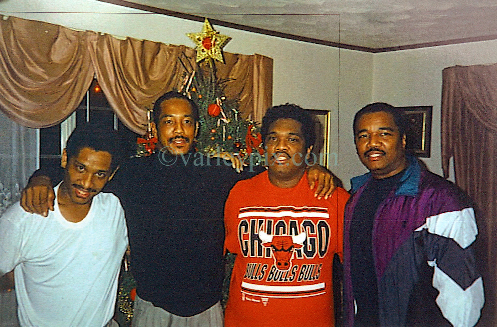 02 March 2010. New Orleans, Louisiana, USA. <br /> L/R; Brothers Ronald, Lance, Raymond and Romell Madison.<br /> Photo courtesy Doctor Romell Madison. His brother Ronald Madison was gunned down by NOPD officers on the Danziger Bridge and brother Lance was arrested and stands charged with murder.<br /> The police are under federal investigation for an alleged cover up of the botched killings on Sept 4th, 2005 in the chaotic aftermath of hurricane Katrina. <br /> Photo; Charlie Varley.