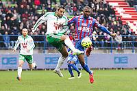 Sloan PRIVAT / Loic PERRIN - 01.02.2015 - Caen / Saint Etienne - 23eme journee de Ligue 1 -<br />Photo : Vincent Michel / Icon Sport