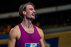 Jochem Dobber in action on the 400 meter during AA Drink Dutch Athletics Championship Indoor on 20 February 2021 in Apeldoorn.