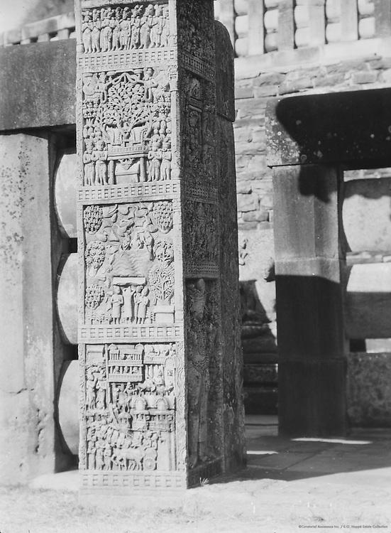 Pillars, Sanchi, India, 1929