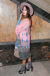 Katya Jones at the Julien Macdonald Autumn/Winter 2017 London Fashion Week show at Goldsmiths' Hall, London. Photo credit should read: Doug Peters/ EMPICS Entertainment
