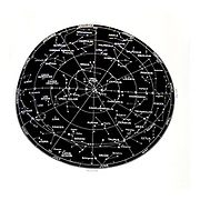 Northern Hemisphere stars and constellation sky map