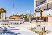 Hobie Alter and Bruce Brown Sculpture in the New South Cove Community on Pacific Coast Highway in Dana Point