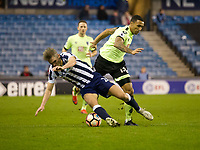Football - 2016 / 2017 FA Cup - Third Round: Millwall vs. AFC Bournemouth<br /> <br /> Steve Morrison of Millwall fouled by  Callum Wilson of Bournemouth, at The Den.<br /> <br /> COLORSPORT/WINSTON BYNORTH