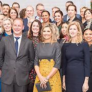 NLD/Amersfoort/20190305  - Koningin Maxima bij jubileumsymposium Qredits , Koningin Maxima en Mona Keijzer