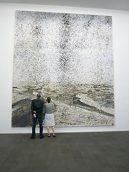 Painting Cette Obscure clarte qui tombe des etoiles by Anselm Kiefer at Kuppersmuhle Museum at Innenhafen area of Duisburg in North Rhine-Westphalia Germany