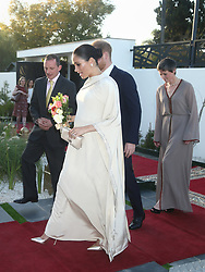 The Duke and Duchess of Sussex arrive for a reception hosted by the British Ambassador to Morocco Thomas Reilly (left) at the British Residence in Rabat on the second day of their tour of Morocco.