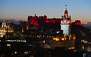 Scotland's largest Chinese New Year celebration sees Edinburgh painted red for the Year of the Pig<br /> <br /> Edinburgh landmarks light up red to mark Chinese New Year as the city hosts Scotland's largest Chinese New Year celebrations until 17 February. Landmarks in red include; Edinburgh Castle, Balmoral Hotel, The Outlook Tower at Camera Obscura, Jenners  Department Store, Harvey Nichols, The Scotch Whisky  Experience and Edinburgh Airport. Full festival programme at www.chinesenewyear.scot <br /> <br />  Neil Hanna Photography<br /> www.neilhannaphotography.co.uk<br /> 07702 246823