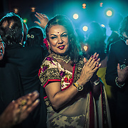 A dance party reception after a wedding at one of Mumbai's luxury hotels in 2013.