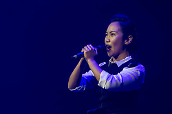 Underbelly launches its 20th year at the Edinburgh Festival with a preview hosted by Rhys Nicholson<br /> <br /> Pictured: Singer from Tokyo Rose