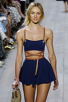 Candice Swanepoel walks the runway wearing Michael Kors Spring 2015 during Mecedes-Benz Fashion Week in New York on September 10th, 2014