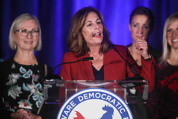 November 6, 2018 - Wilmington, Delaware, United States of America - Attorney General elect KATHLEEN JENNINGS addresses supporters during Democrat Watch Party Tuesday, Nov. 06, 2018, at the Doubletree Hotel in Wilmington, Delaware. (Credit Image: © Saquan Stimpson/ZUMA Wire)
