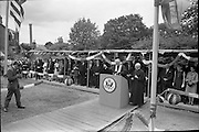 01/07/1962<br /> 07/01/1962<br /> 01 July 1962<br /> First sod turned at the new United States embassy at Ballsbridge, Dublin. Image shows Rev. Dr. Patrick Joseph Dunne, Bishop of Nara blessing the site. The embassy was expected to cost 1,000,000 dollars and take two years to build.