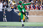 October 05, 2019:  Notre Dame Leprechaun performs during NCAA football game action between the Bowling Green Falcons and the Notre Dame Fighting Irish at Notre Dame Stadium in South Bend, Indiana.  Notre Dame defeated Bowling Green 52-0.