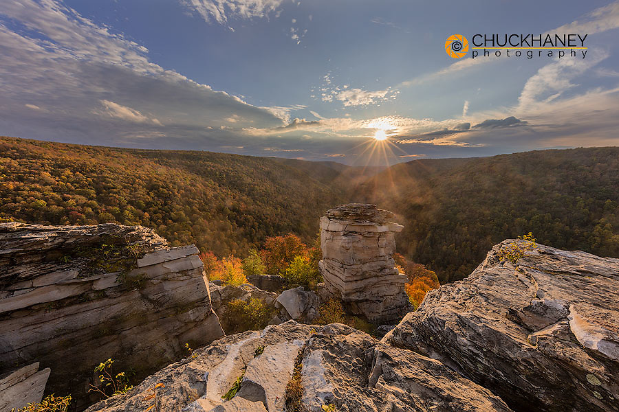 Lindy Point Overlook in Blackwater Falls State Park in Davis, West Virginia, USA