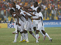 Photo: Steve Bond/Richard Lane Photography.<br /> Ghana v Morocco. Africa Cup of Nations. 28/01/2008. Michael Essien celebrates his opening goal
