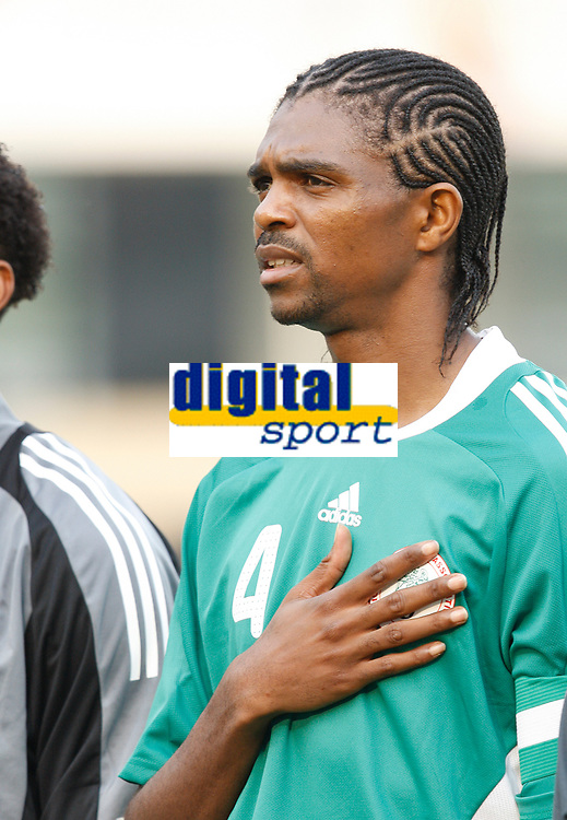 Photo: Steve Bond/Richard Lane Photography.<br /> Nigeria v Ivory Coast. Africa Cup of Nations. 21/01/2008. Nwankwo Kanu lines up for Nigeria