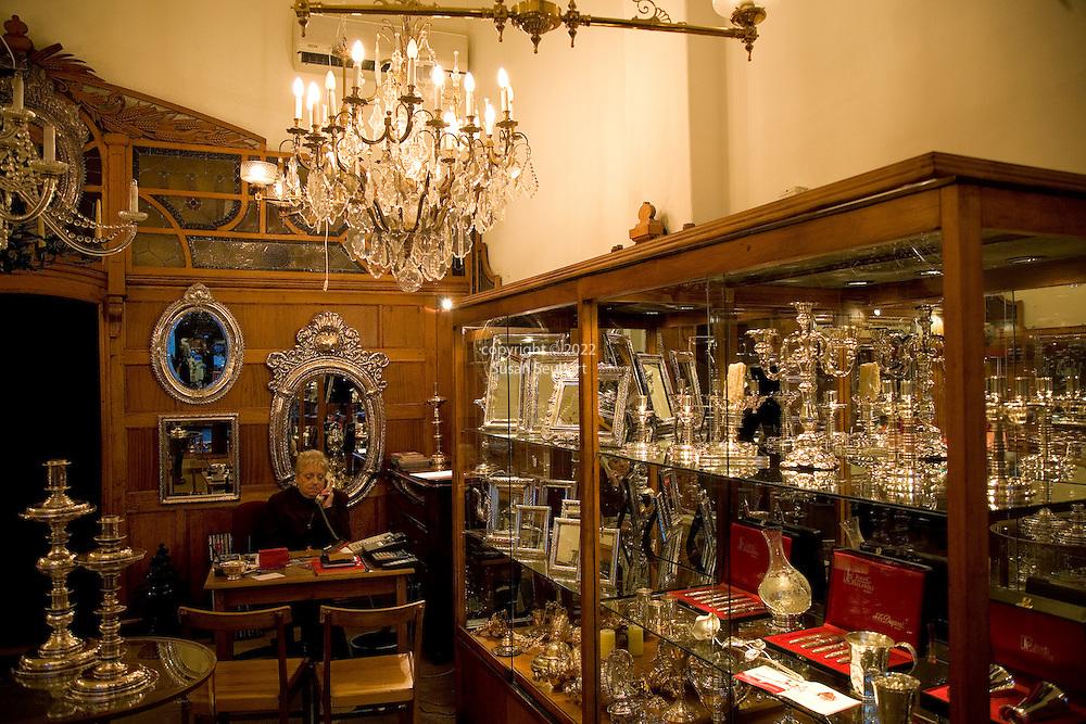 Juan C. Pallarols silver store in San Telmo, Buenos Aires, Argentina