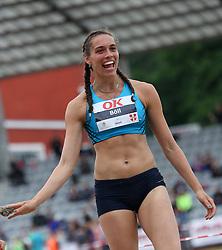 Denmark's Sandra Böll in the long jump at the Aarhus Nordic Challenge 2016 at Ceres Park, Aarhus, Denmark, 25.6.2016. (Allan Jensen/EVENTMEDIA).