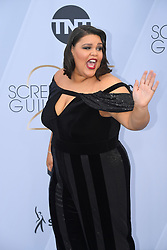 January 27, 2019 - Los Angeles, California, U.S - BRITNEY YOUNG during silver carpet arrivals for the 25th Annual Screen Actors Guild Awards, held at The Shrine Expo Hall. (Credit Image: © Kevin Sullivan via ZUMA Wire)