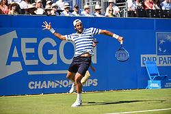 June 20, 2017 - London, England, United Kingdom - Feliciano Lopez (SPA) beats Stanislas Wawrinka (SWI) in the first round of AEGON Championships at Queen's Club, London, on June 19, 2017. (Credit Image: © Alberto Pezzali/NurPhoto via ZUMA Press)