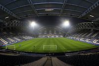 A general view of The John Smith's Stadium the home of Huddersfield Town<br /> <br /> Photographer Mick Walker/CameraSport<br /> <br /> The EFL Sky Bet Championship - Huddersfield Town v Birmingham City - Tuesday 2nd March 2021 - The John Smith's Stadium - Huddersfield<br /> <br /> World Copyright © 2020 CameraSport. All rights reserved. 43 Linden Ave. Countesthorpe. Leicester. England. LE8 5PG - Tel: +44 (0) 116 277 4147 - admin@camerasport.com - www.camerasport.com