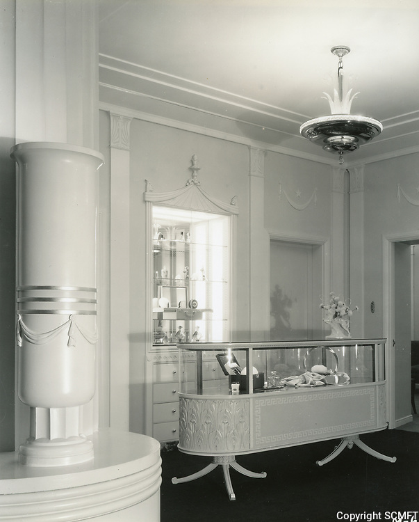 1933 Interior of the Max Factor Salon on Highland Ave.