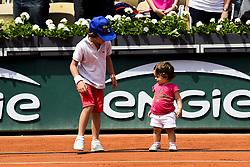 June 9, 2018 - Paris, France, France - Enfants d Amelie Mauresmo -  fille Ayla et son fils Aaron (Credit Image: © Panoramic via ZUMA Press)