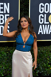 January 5, 2020, Beverly Hills, California, USA: SALMA HAYEK during red carpet arrivals for the 77th Annual Golden Globe Awards, at The Beverly Hilton Hotel. (Credit Image: © Kevin Sullivan via ZUMA Wire)