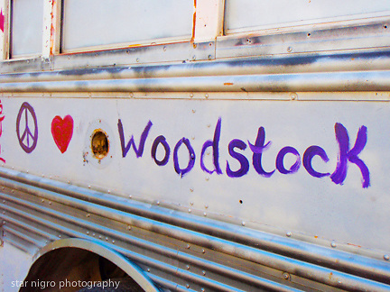 """about photo: Woodstock message on school bus<br /> <br /> Story series """"Woodstock,NY """" colony of the arts"""" by Star Nigro.<br /> <br /> This small town is considered one of the most famous towns with a rich history.<br /> <br /> Born and raised in Woodstock, NY, I have been greatly influenced unknowingly as a photographer/ artist surrounded by artists & musicians.<br />  <br /> The elder historians of the community have sparked my intrigue to share this unique towns people, local scenes & way of life.<br /> <br /> <br /> photo by Star Nigro<br /> <br /> ©2021 All artwork is the property of STAR NIGRO.  Reproduction is strictly prohibited.<br /> <br /> starnigro.com"""