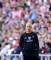 Photo: Jed Wee/Sportsbeat Images.<br /> Sunderland v Wolverhampton Wanderers. Coca Cola Championship. 07/04/2007.<br /> <br /> Wolves manager Mick McCarthy endures a disappointing return to the Stadium of Light.