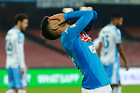 Delusione di \Lorenzo Insigne Napoli dejection<br /> Napoli 10-02-2018  Stadio San Paolo <br /> Football Campionato Serie A 2017/2018 <br /> Napoli - Lazio<br /> Foto Cesare Purini / Insidefoto