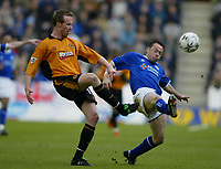 Foto: Digitalsport<br /> NORWAY ONLY<br /> Leicester v Wolverhampton<br /> 28th February 2004<br /> <br /> JODY CRADDOCK AND PAUL DICKOV