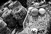 Crab pots on the Hobart Waterfront