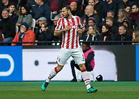 Football - 2016 / 2017 Premier League - West Ham United vs. Stoke City<br /> <br /> Erik Pieters of Stoke City at The London Stadium.<br /> <br /> COLORSPORT/DANIEL BEARHAM
