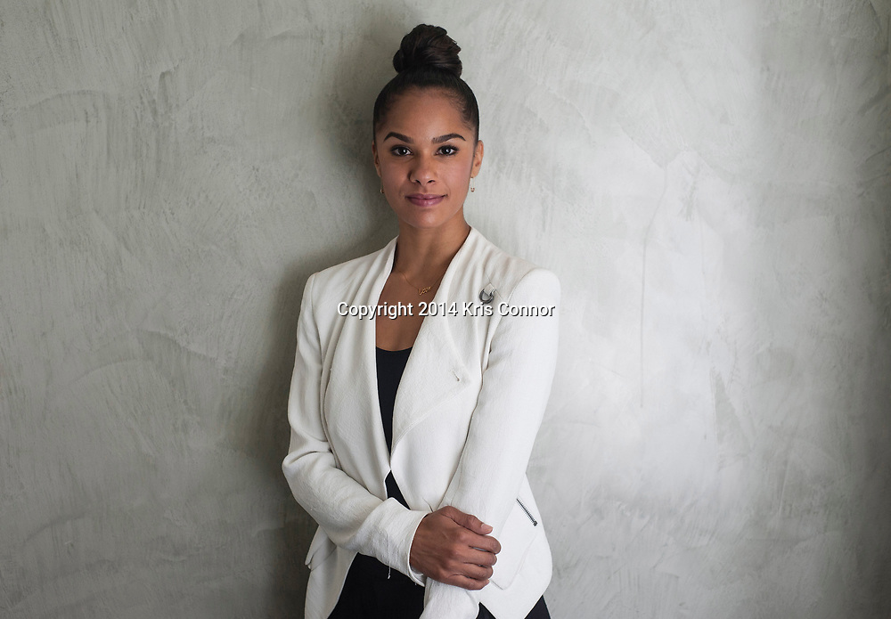 Ballet dancer Misty Copeland poses for a portrait on September, 17, 2014 at the National Press Club Building in Washington DC.