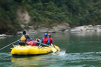 Second decent raft trip of the Drangme Chhu (river) in Bhutan.