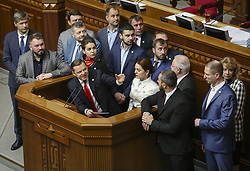 April 17, 2018 - Kiev, Ukraine - The Head of Radical Party of Ukraine Oleh Liashko has a speech during the Parliamentary session of Verkhovna Rada in Kyiv, Ukraine, April 17,   2018  (Credit Image: © Sergii Kharchenko/NurPhoto via ZUMA Press)