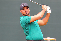 August 25, 2018 - Paramus, NJ, U.S. - PARAMUS, NJ - AUGUST 25:  Jason Day of Australia plays his shot from the first tee  during the third round of The Northern Trust on August 25, 2018 at the Ridgewood Championship Course in Ridgewood, New Jersey.   (Photo by Rich Graessle/Icon Sportswire) (Credit Image: © Rich Graessle/Icon SMI via ZUMA Press)