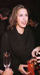 MISS JESSICA DE ROTHSCHILD a member of the banking family, at a fashion show in London on 17th November 1998.MMC 84