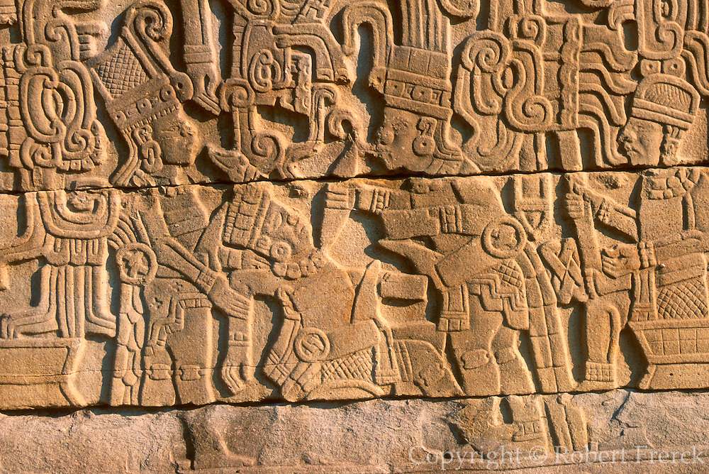 MEXICO, VERACRUZ CULTURES El Tajin, ballcourt; sacrifice relief