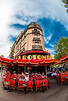 Brasserie La Rotonde, a sidewalk cafe on Boulevard Montparnasse, Paris, France.