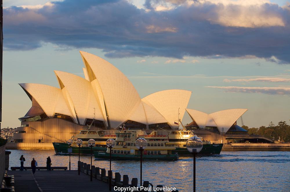 Sunset On Sydney Opera House
