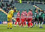 GOAL    Sunderland players celebrates a goal  during the EFL Sky Bet League 1 match between Plymouth Argyle and Sunderland at Home Park, Plymouth, England on 1 May 2021.