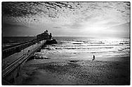 Bournemouth Beach, Dorset, England - October 2020
