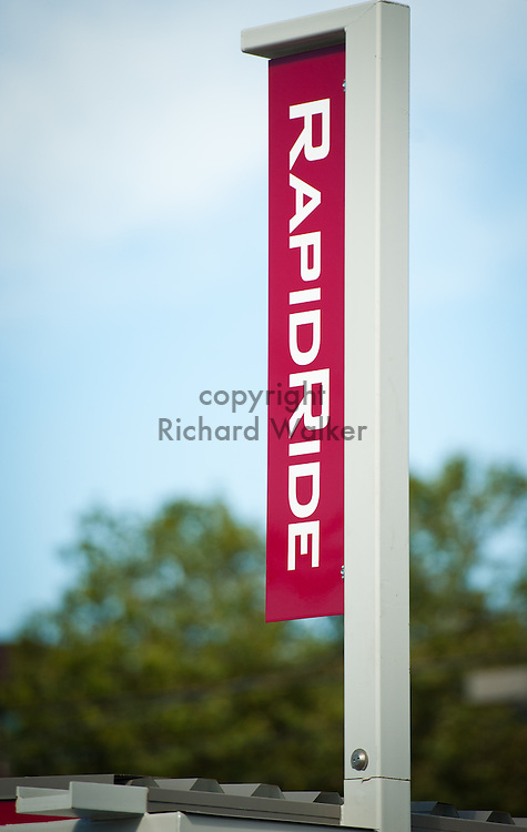 2012 August 27 - Rapid Ride stop, West Seattle, WA. By Richard Walker