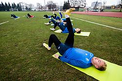 Sandi Ogrinec of Bravo during first practice session of NK Bravo before the spring season of Prva liga Telekom Slovenije 2020/21, on January 5, 2021 in Sports park ZAK, Ljubljana Slovenia. Photo by Vid Ponikvar / Sportida