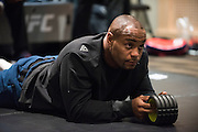LAS VEGAS, NV - JULY 9:  Daniel Cormier waits in the locker room before UFC 200 at T-Mobile Arena on July 9, 2016 in Las Vegas, Nevada. (Photo by Cooper Neill/Zuffa LLC/Zuffa LLC via Getty Images) *** Local Caption *** Daniel Cormier