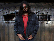 Shooter Jennings , son of Waylon Jennings, outside his homein the Hollywood Hills..photo by Jonathan Alcorn